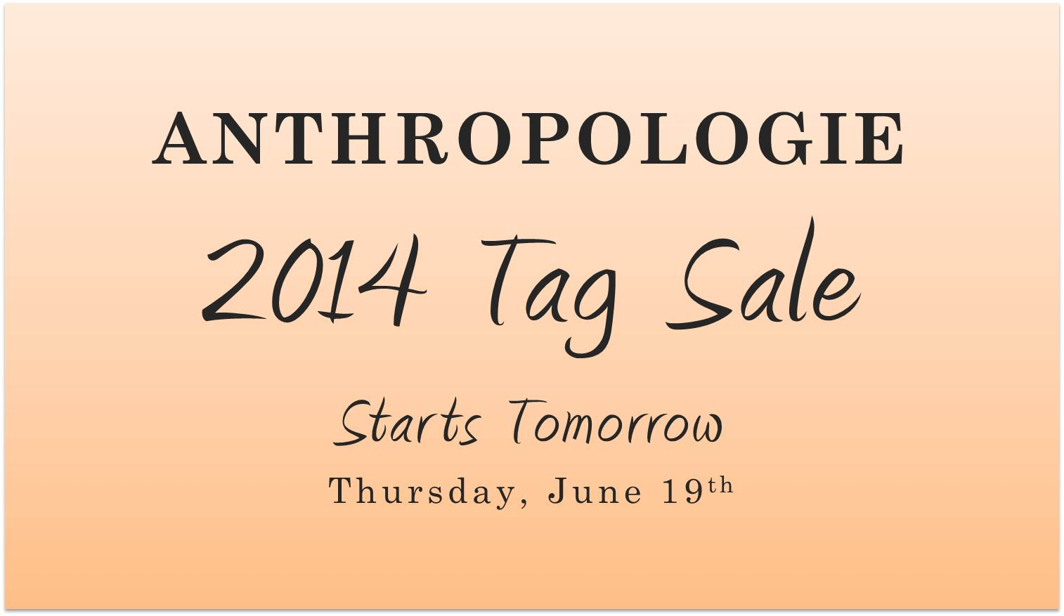 Anthropologie-Tag-Sale