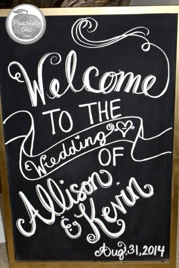DIY Wedding Chalkboard Signs