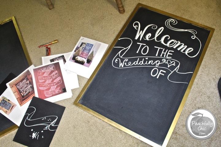 Diy Wedding Chalkboard Signs Writing