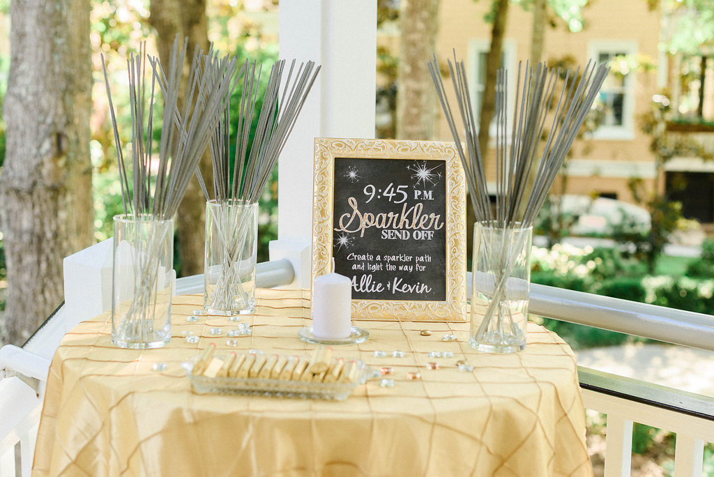 peachfully-chic-low-country-wedding-reception-sparklers-1