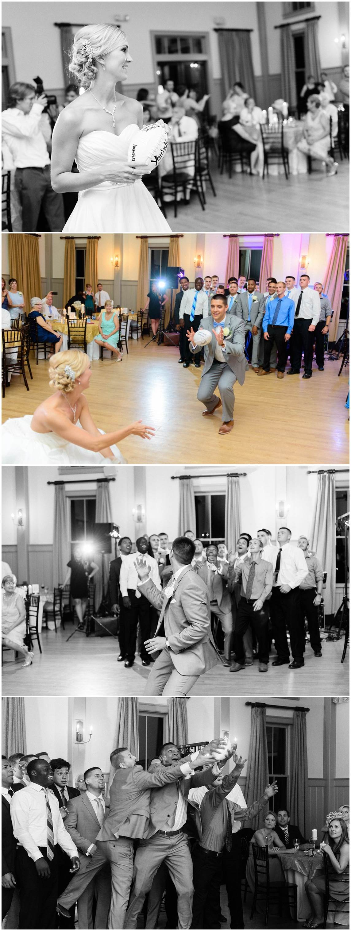 peachfully-chic-low-country-wedding-football-toss