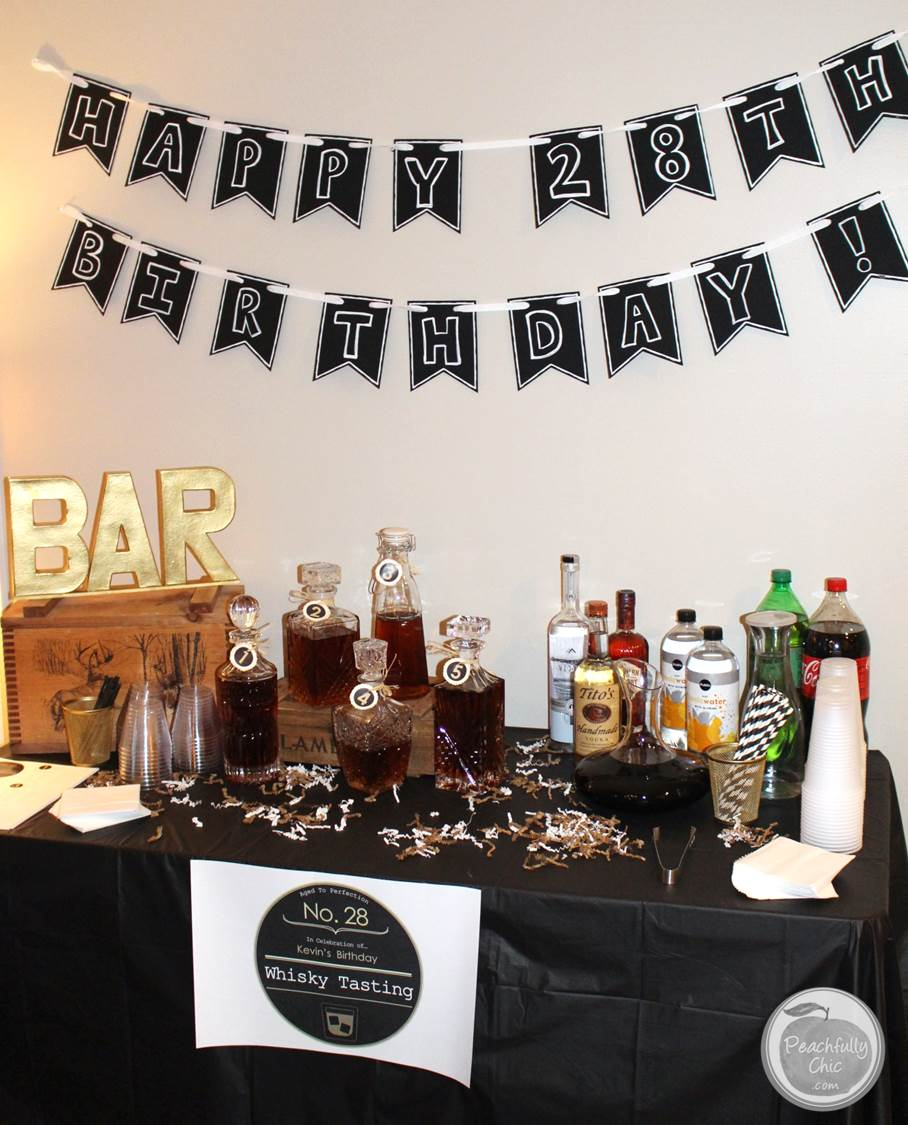 Planning a guy 39 s birthday party whiskey tasting - Birthday party theme for men ...