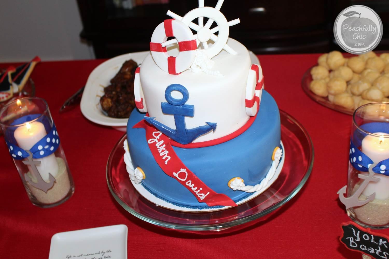 Nautical Baby Shower Decor Ideas Cake 3