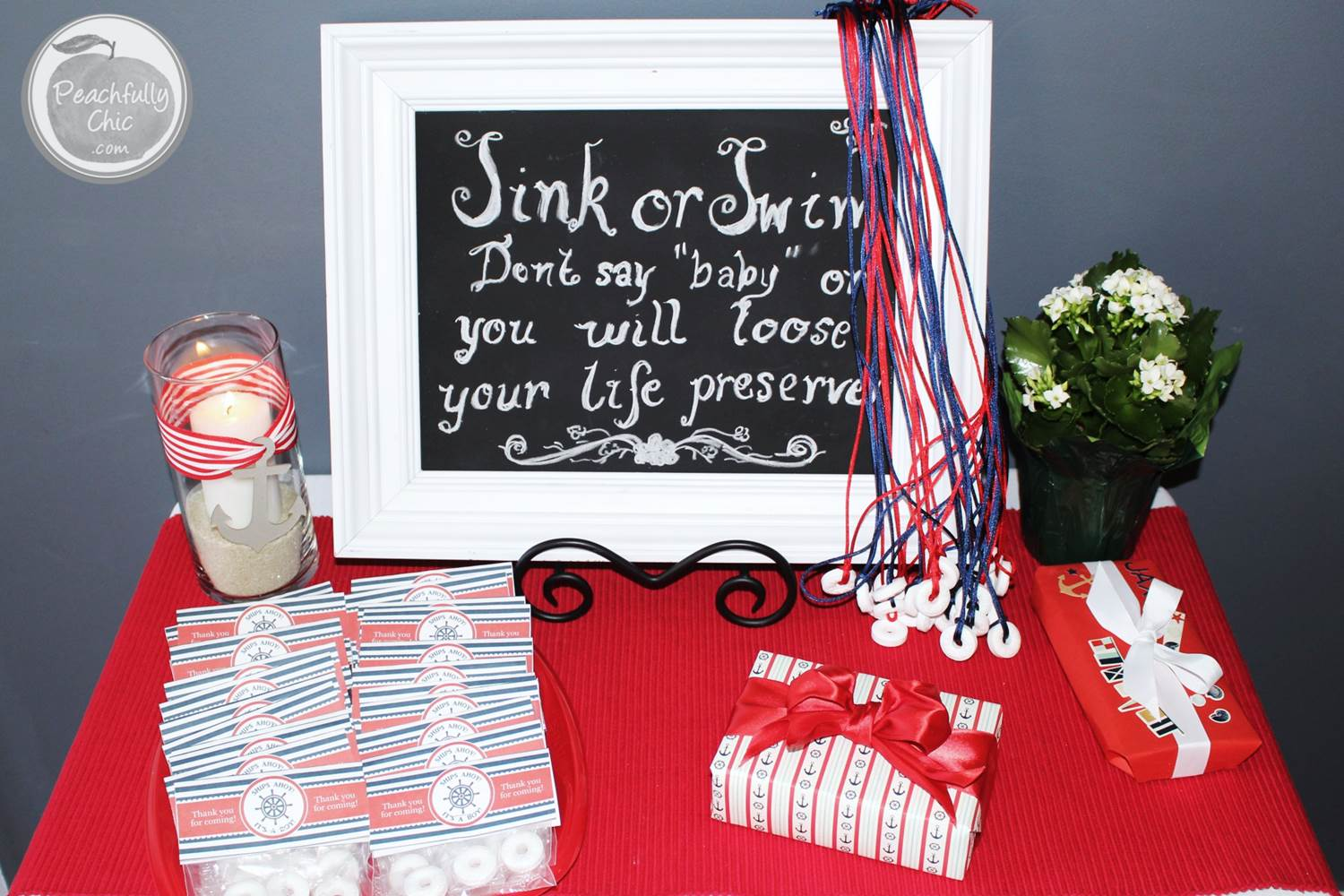 Nautical baby shower ideas peachfully chic for Baby decoration games