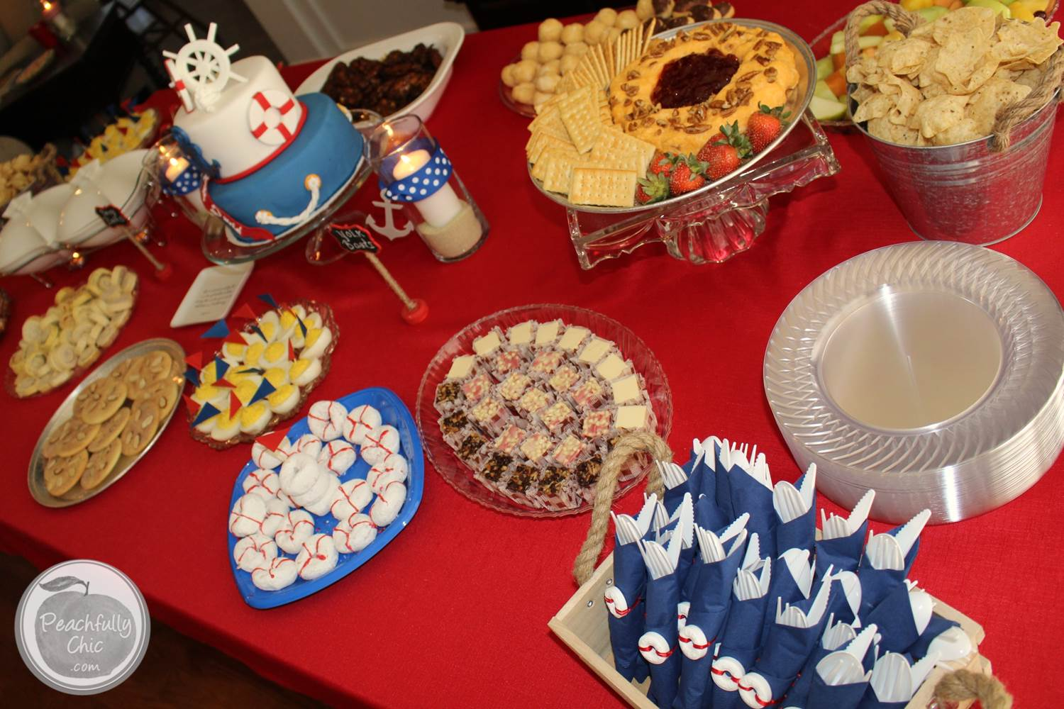 nautical baby shower decor ideas table 3