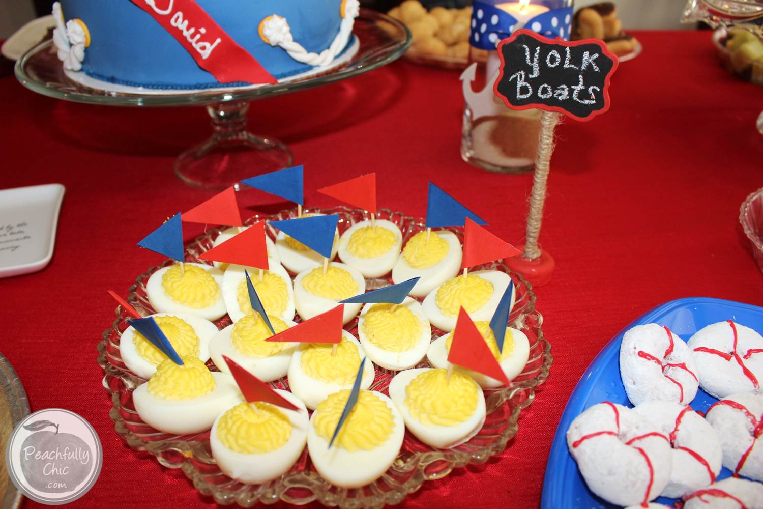 Creative Baby Shower Appetizers Part - 38: ... Nautical-baby-shower-decor-ideas-yolk-boats ...