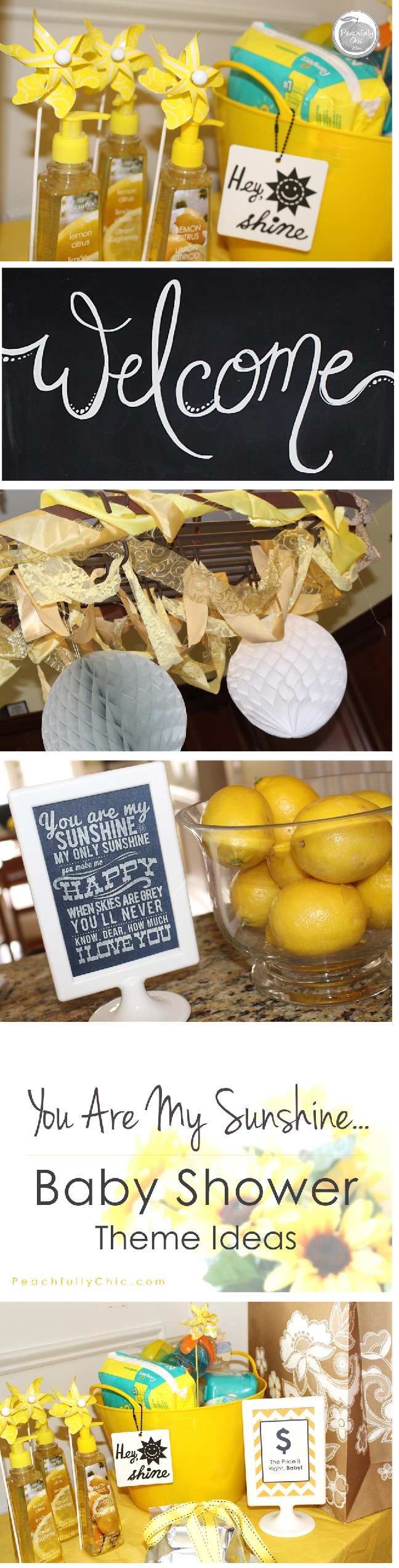 ... Peachfully Chic You Are My Sunshine Baby Shower