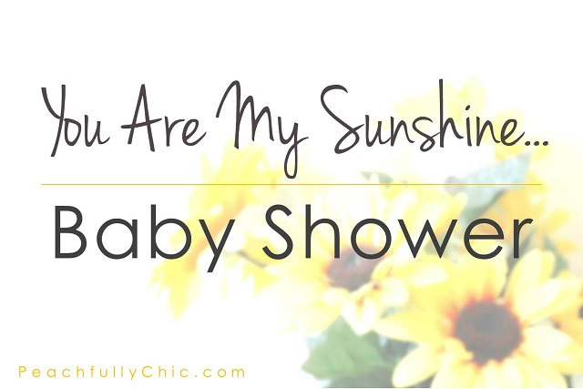 peachfully chic you are my sunshine baby shower theme main