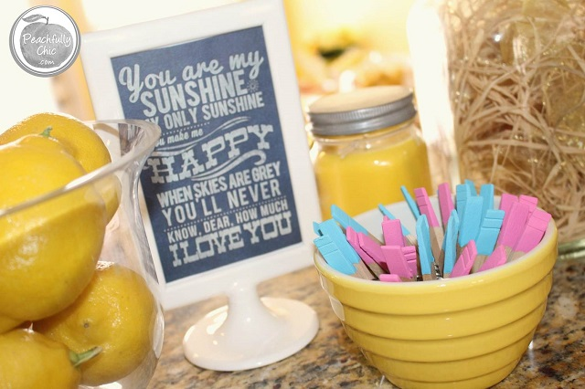 Peachfully Chic You Are My Sunshine Baby Shower