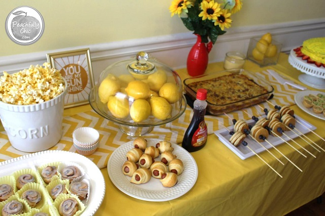 ... Peachfully Chic You Are My Sunshine Baby Shower  ...