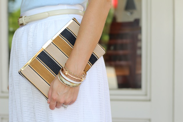 Peachfully-Chic-Allison-Cawley-Ann-Taylor-Outfit-white-skirt-blue-sweater-top-7