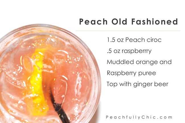 Peachfully-Chic-Sweet-Auburn-Seafood-Review-ciroc-cocktails-peach-old-fashioned