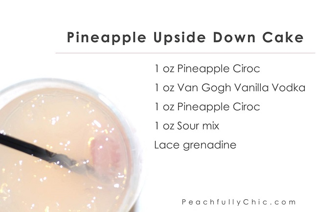 Peachfully-Chic-Sweet-Auburn-Seafood-Review-ciroc-cocktails-pineapple-upside-down-cake