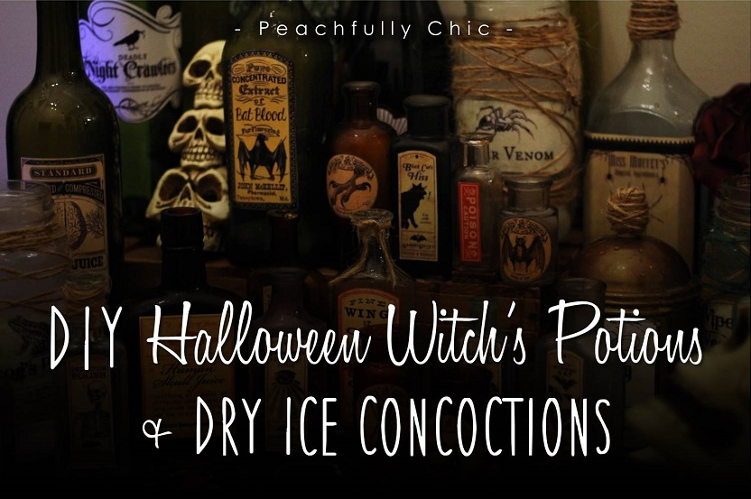 Peachfully-Chic-DIY-Halloween-Potion-Bottles-Labels-Penguin-Dry-Ice-Ideas-main