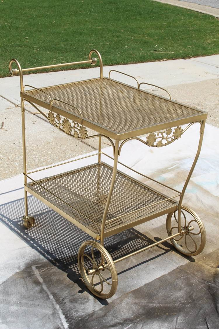 peachfully-chic-diy-bar-cart-gold-vintage-makeover-8