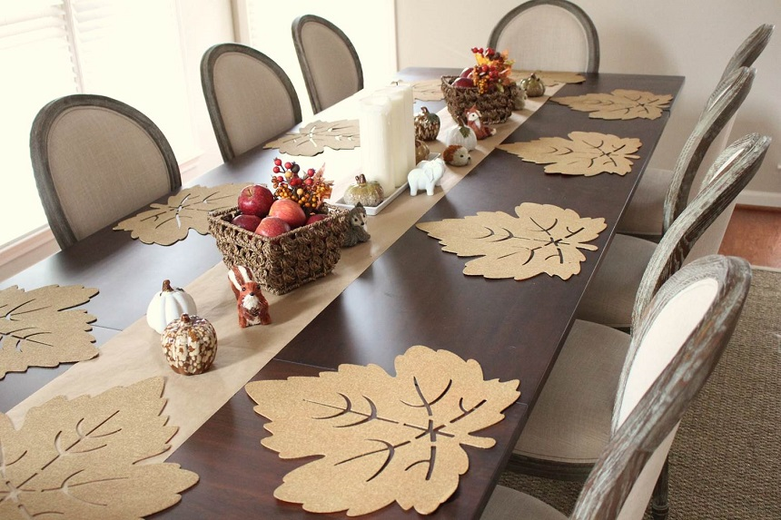 DIY-Placemats-Craft-Box-Girls-Allison-Cawley-Rustoleum-Gold-Spraypaint-Leaves