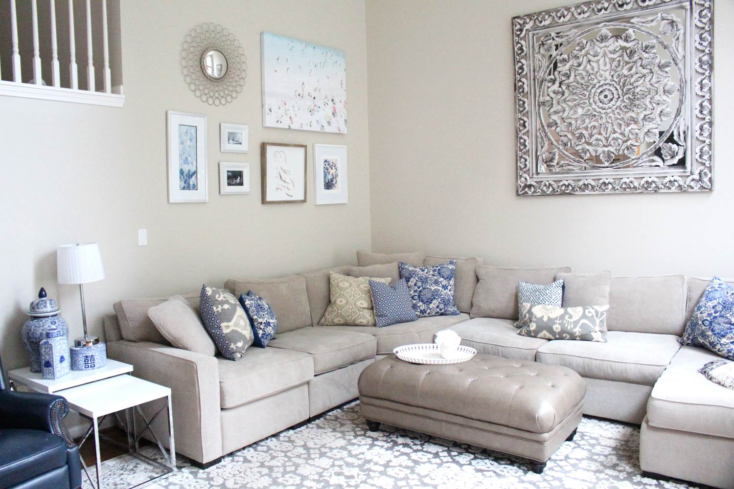 Peachfully-Chic-Gray-Blue-Living-Room-Wall-Art-Makeover-2