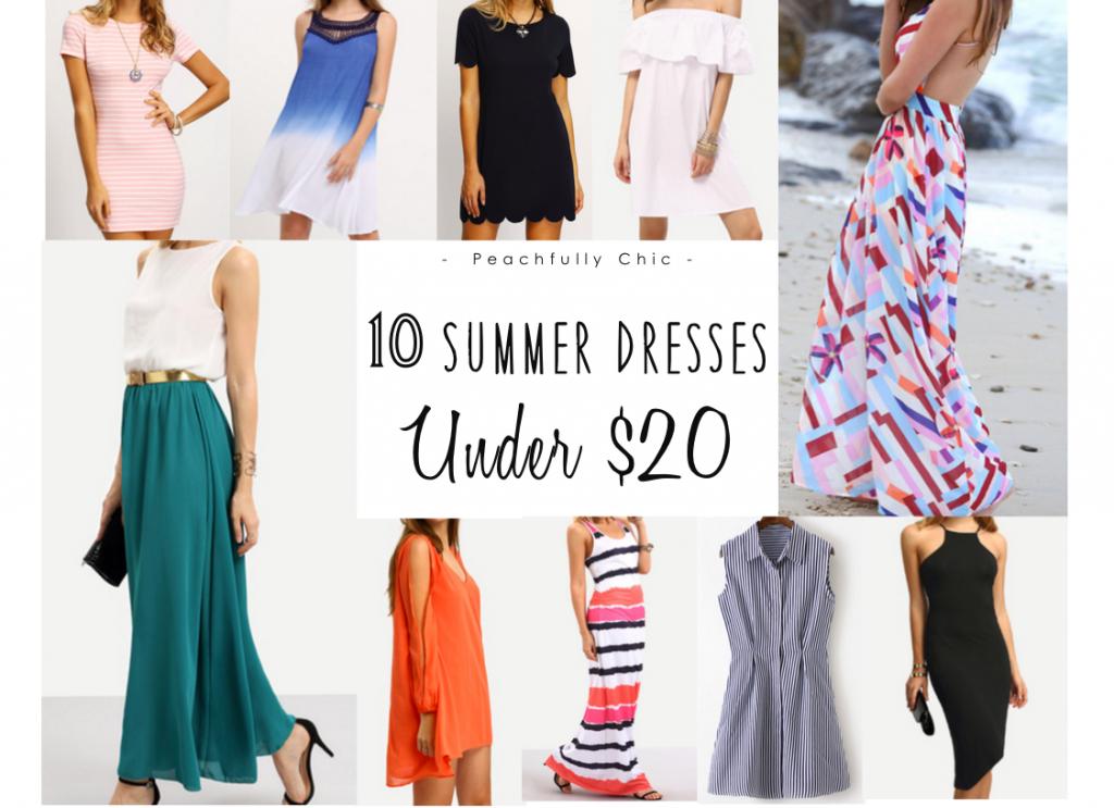 666ef09eea 10 Summer Dresses Under $20 | Peachfully Chic