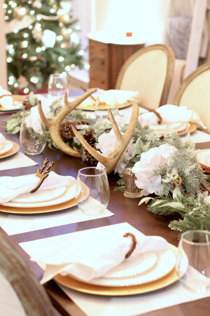 Christmas-Tablescape-Deer-Antlers-2