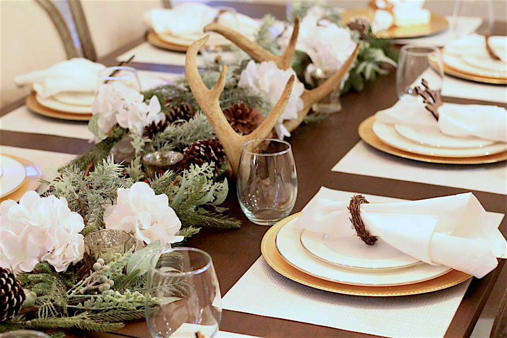 Christmas-Tablescape-Deer-Antlers-7