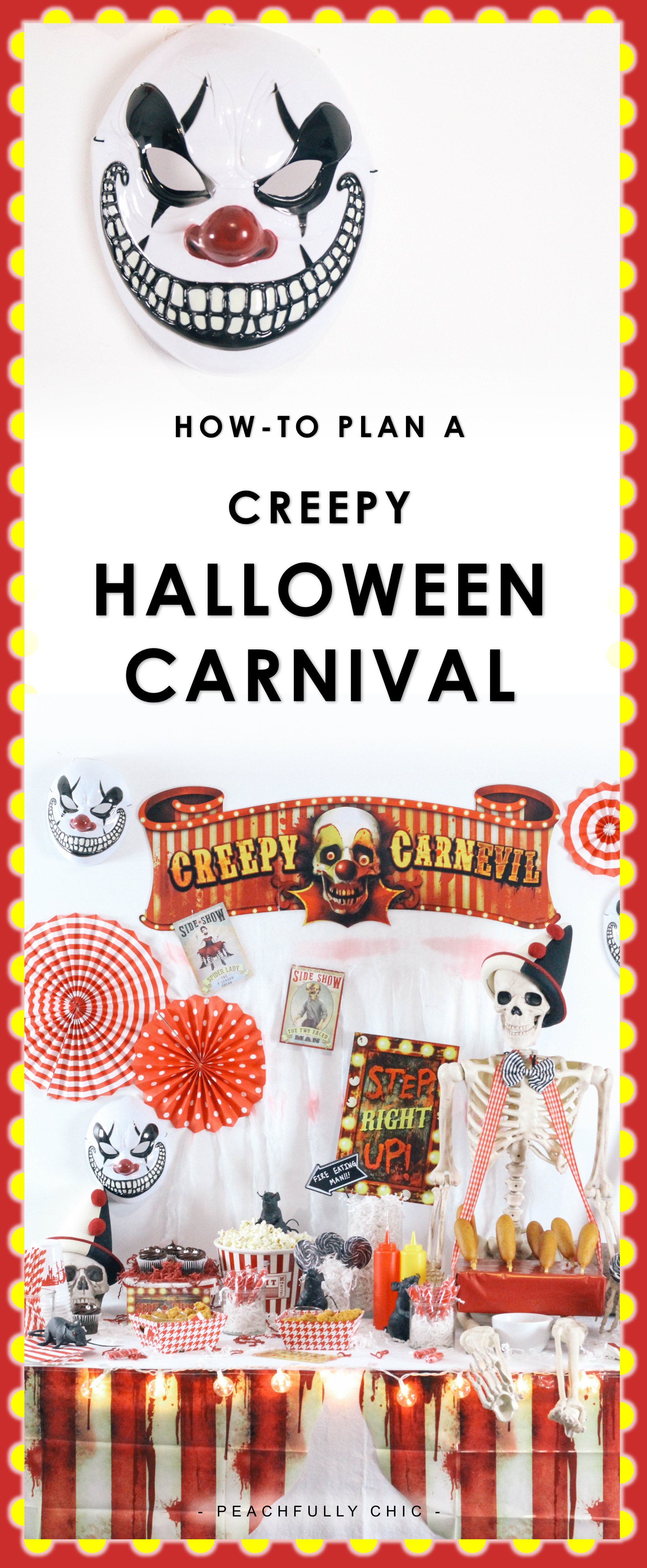 halloween carnival party peachfully chic
