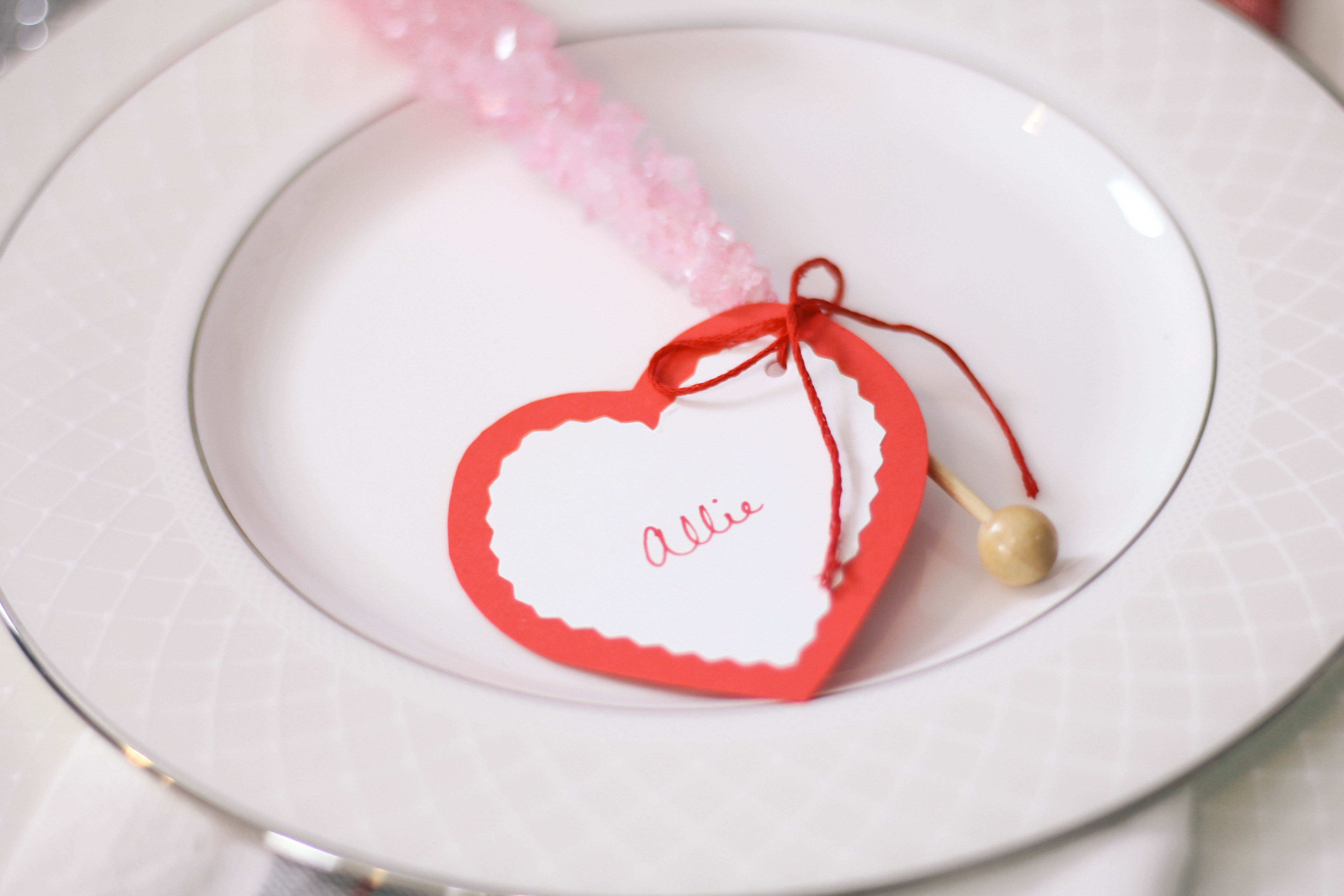 DIY Valentine's Party Place Cards   Peachfully Chic