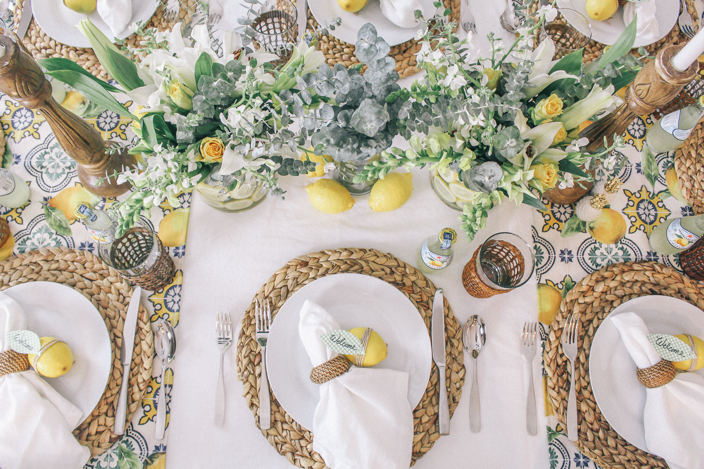 Lemon Party Decor & Table Setting | Peachfully Chic