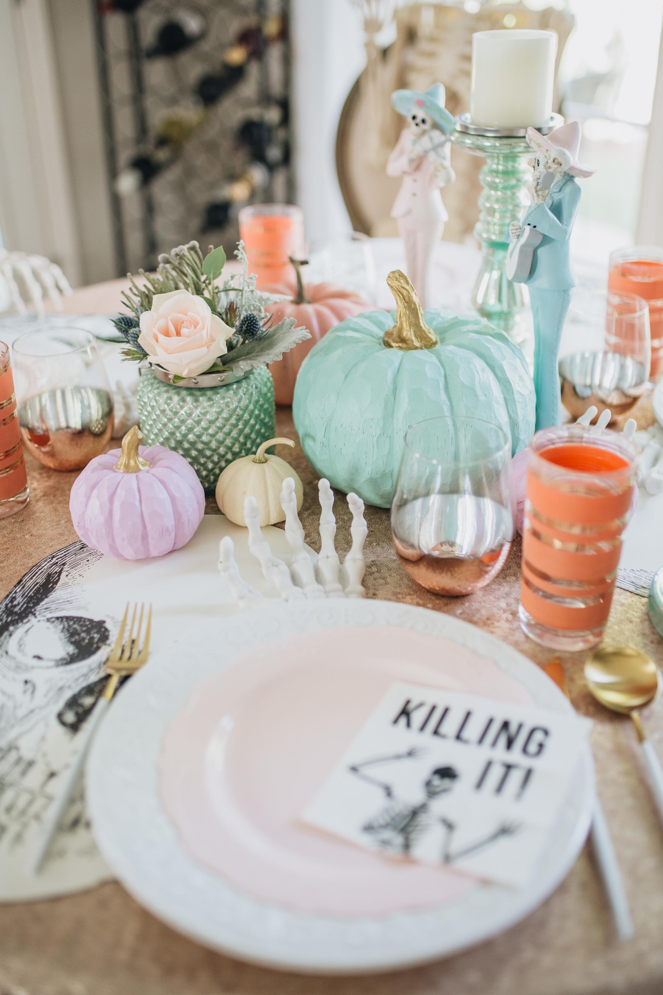 Chic Pastel Halloween Decor Ideas Peachfully Chic